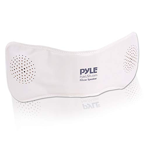 Pyle PPSP18 Bluetooth Pillow Speaker, Rechargeable Portable Sleep Therapy Noise Sound Machine with Soothing All-Natural Sounds Remote Control | AUX Input | 1 GB Built in Memory