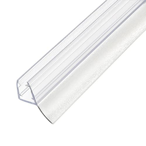 Amig - Junta Vierteaguas Mod.240 con Lengüeta Doble de 10,5 mm para Cristales de Espesor de 6 a 8 mm | Perfil de Goma para Sellado o Estanqueidad de Mamparas de Ducha o Bañera | Pieza de 2 Metros