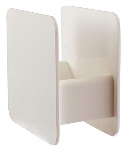 MeinTablett Bierdeckelhalter für quadratische und runde Bierdeckel - 2 Stück (Weiß)