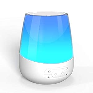 YORTOT Sound Machine-White Noise Machine with 13 Color Night Lights, 20 Soothing Sounds for Sleeping and Relaxation, Auto-Off Sleep Timer, Adjustable Volume/Brightness, Perfect for Baby, Kids, Adults