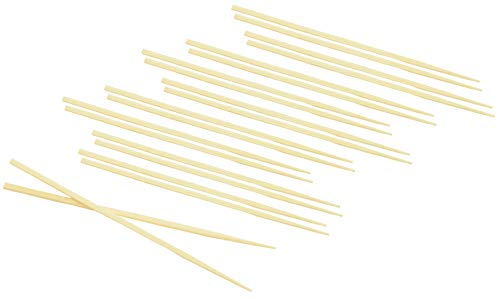 Fackelmann 30110 5 Paires Baguettes Chinoises, Bambou, Beige, 33,5 x 8 x 0,6 cm