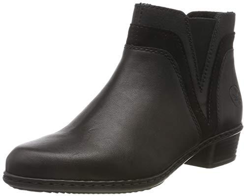 Rieker Damen Y07B2 Stiefeletten, Schwarz (schwarz/schwarz/schwarz 02), 39 EU