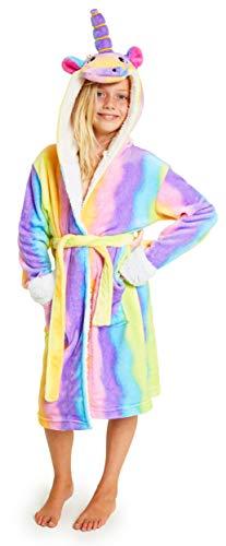 CityComfort Vestaglia Bambina in Pile Morbido, 5-14 Anni, Vestaglie Unicorno E Gatto, Abbigliamento Invernale da Casa, Idee Regali Originali per Bimba E Ragazza (11-12 Anni, Unicorno Arcobaleno)