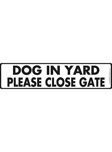 BDTS Hond In Yard Sluit alstublieft poort Aluminium Hond Teken Outdoor Indoor Straat Teken 4x16 inches