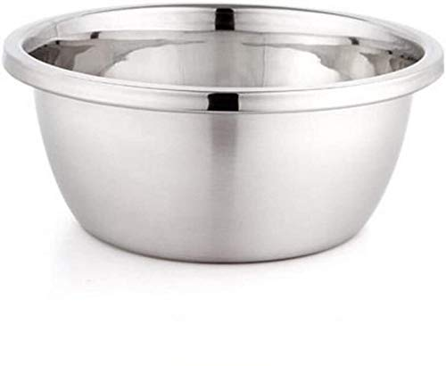 LSLY Bowls & Servers 304 Stainless Steel Basin Round Mixing Basin Soup Basin Home Kitchen Cooking Pots Seasoning Pots for Family Kitchen
