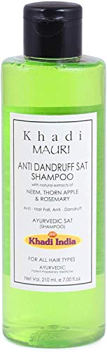 Glamorous Hub Khadi Mauri Herbals Champú Herbal Anticaspa 210 Ml (El Embalaje Puede Variar)