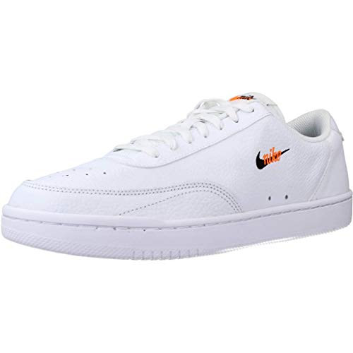 Nike Court Vintage Premium, Scarpe da Tennis Uomo, White Black Total Orange, 44 EU