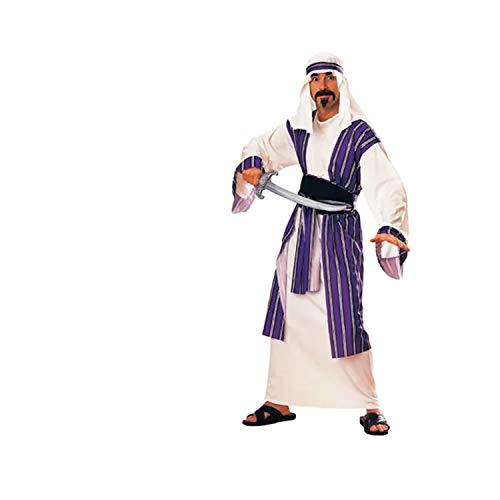 thematys® Disfraz de Aladdin Jeque sultán árabe para Hombre Cosplay, Carnaval y Halloween - Talla única 160-180cm
