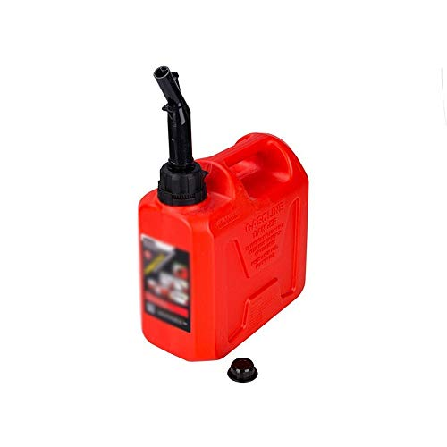 CHQYY Treibstofftank Kraftstofftanks Tragbare dicken Kunststoff explosionsgeschützte Benzinkanister 20L 5L10 Liter Motorrad Ersatz Kraftstofftank Tanken Barrel Pot Long Mouth Red 10L (Benzin. Diesel.