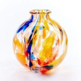 Design Vaas Fidrio - glazen sculptuur - art colours - gekleurd glas - mondgeblazen - 19 cm hoog