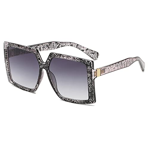 DAIDAICDK Gafas de Sol cuadradas Gafas de Sol para Mujer Gafas de Sol de aleación Gafas para Mujer Accesorios para Coche al Aire Libre