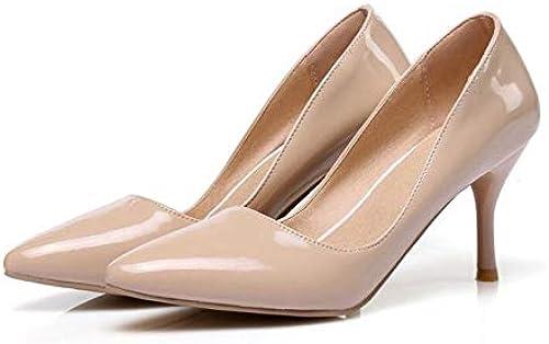 HommesGLTX Talon Aiguille Talons Hauts Sandales Plus La Taille 30-48 Nouvelle Mode Bout Pointu Femmes Pompes Plate-Forme Talons Hauts Les Les dames De Mariage Chaussures De Soirée Femme K3-1 9.5 Abricot