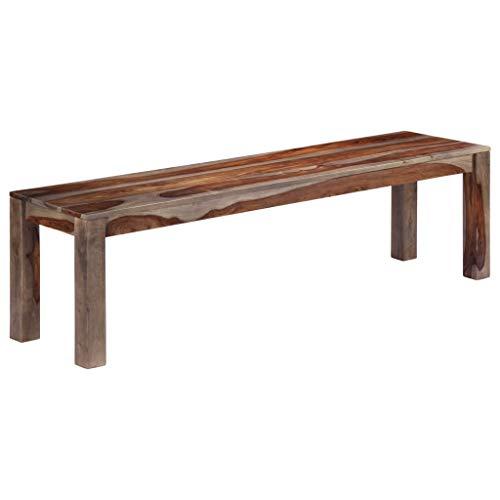 honglianghongshang Sitzbänke Truhen- & Flurbänke Sitzbank 160 cm Grau Sheesham Massivholz