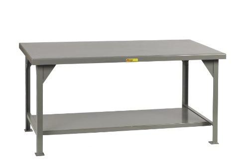 """Little Giant WW-3048 Welded Steel Workbench, 1 Lower Shelf, 10,000 lb. Load Capacity, 34"""" x 48"""" x 30"""", Gray,"""