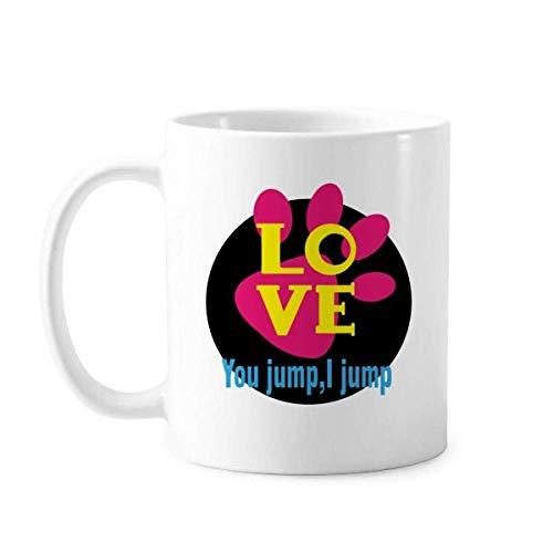 Taza de cerámica con diseño de You Jump I Jump Titanic Art...