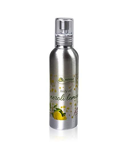 Mykima Kiss of Nature Körperöl Neroli Citrus - Zitrone und Orangenblüte - Aroma Körper- und Massageöl Neroliöl - 150 ml