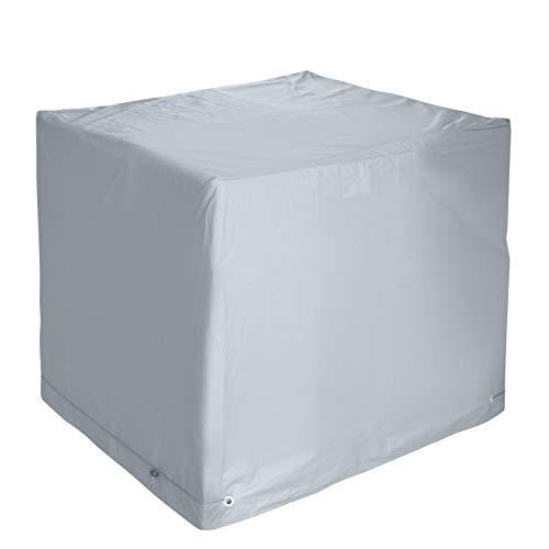 bremermann Schutzhülle für Klappsessel, hochwertig, für bis zu 4 Stühle oder 1 Lounge-Sessel, wasserfest, grau