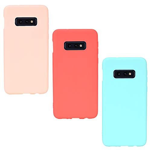 ChoosEU Compatibel met 3X Cases Samsung Galaxy S10e Case Silicone Matt TPU Phone Case Ultra Thin Bumper Schokbestendig Black Silicone Case Slim Case Cover Soft Design Cover
