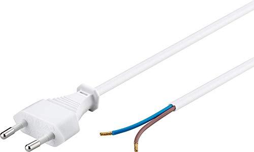 Goobay 51345 Euro Kabel zum Konfektionieren, 1, 5 m, Weiß