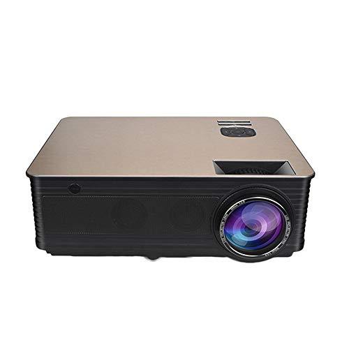 Nativa 1080P proyector de 6500 Lux Upgrad Full HD Video proyector (1920 x 1080) Apoyar 4k y Zoom, Inicio proyector Compatible con TV Stick, HDMI, VGA, USB, Smartphone, PC
