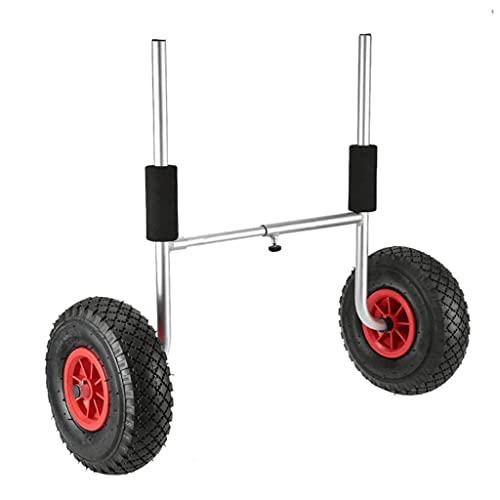 LVLUOKJ Carro de Kayak Desmontable, Ahorro de energía Dos Ruedas Carrito de Kayak Carrito de Canoa Portador de Canoa Carro de Transporte de Dolly 50kg / 65kg / 75kg Capacidad de Carga