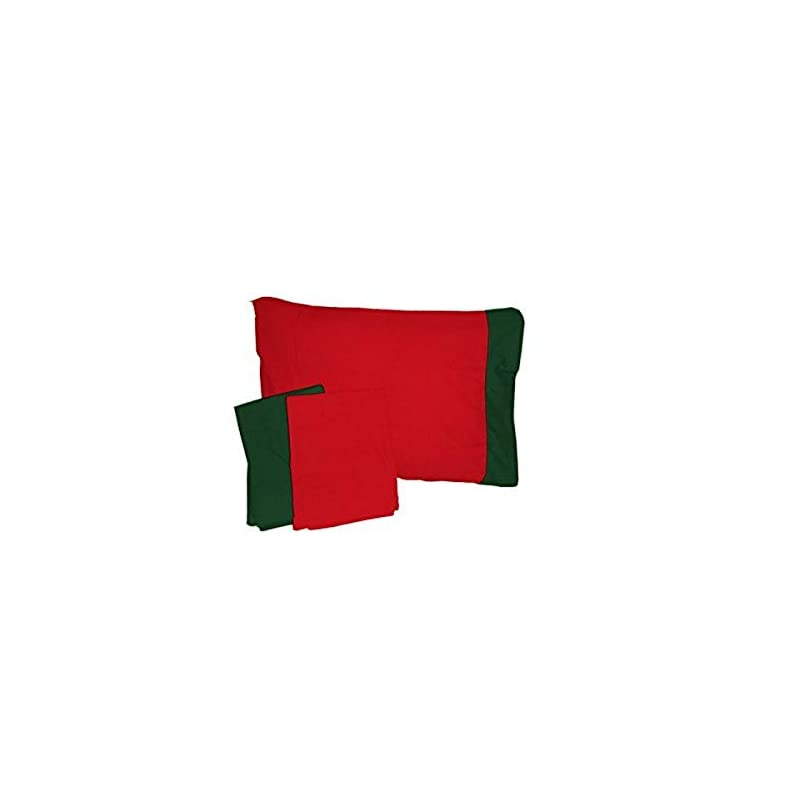 crib bedding and baby bedding baby doll bedding holiday crib and toddler bed sheet and pillow sham set, red/green
