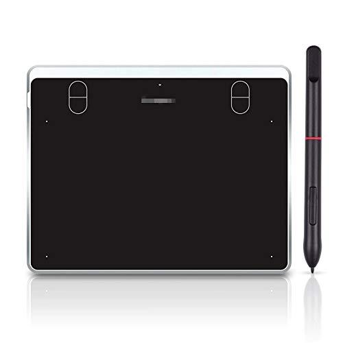 ZDAMN Tableta de Dibujo Raphic Tabletas De Dibujo Gráficos 4 Llaves De Acceso Directo Sin Batería Lápiz Pasivo 8192 Niveles Presión Tableta de Dibujo Gráfico del Juego