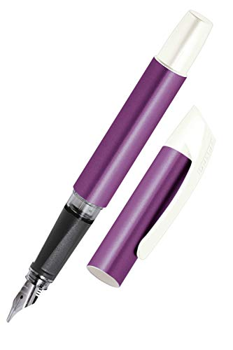 Online Campus Colour Line | Schönschreib-Füller für Rechtshänder | ergonomisches Softtouch Griffstück | Standard-Tintenpatronen | mit hochwertiger Feder | Kalligrafie-Feder 1,4 mm, Farbe lila
