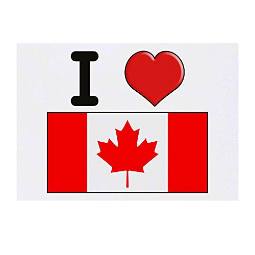 Grand 'I Love Canada' Tatouages temporaires (TO00000704)