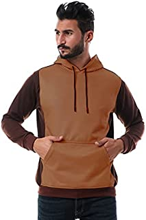 Andora Two-Tone Long-Sleeves Kangaroo-Pocket Hoodie for Men