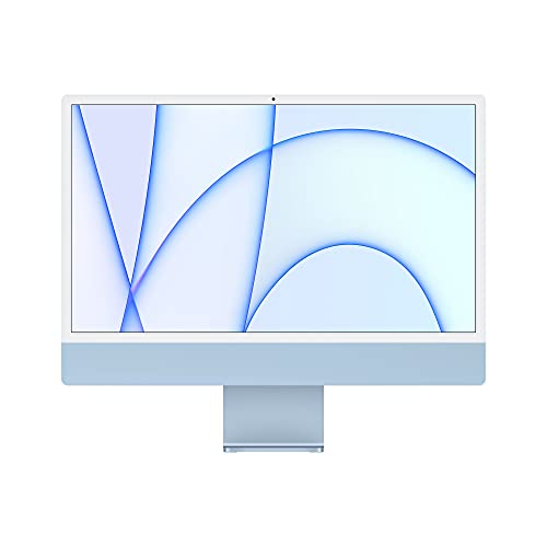 2021 Apple iMac (24', Apple M1Chip mit 8‑CoreCPU und 7‑CoreGPU, Zwei Anschlüsse, 8GB RAM, 256 GB) - Blau