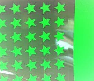 SAFIRMES appliqué 30 étoiles 1cm Flex thermocollant Vert Fluo