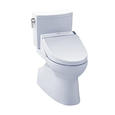 TOTO MW4742044CUFG#01 WASHLET+ Vespin II 1G Two-Piece Elongated 1.0GPF Toilet and WASHLET C200 Bidet Seat, Cotton White