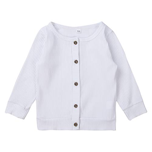 Carolilly - Jersey de bebé unisex para bebé Bianco 12-18 meses