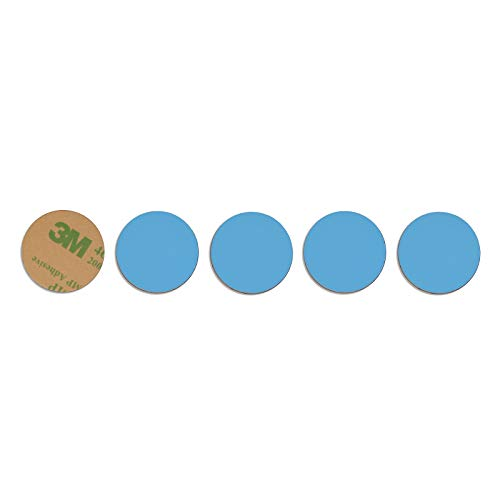 THONSEN 125KHz RFID Tags Rewritable T5577 PVC Tag Sticker Round 25mm (1 inch), Color Blue - 5 Pieces