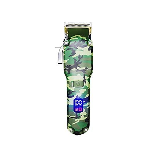 WYH Cortapelos profesional Kit de corte de pelo con pantalla LED USB recargable Clippers Set