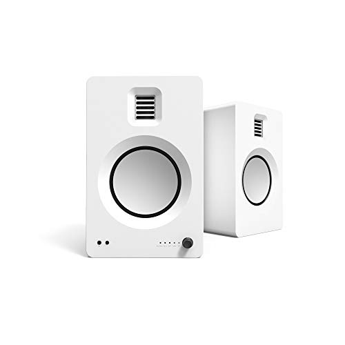 Kanto TUK Powered Speakers with Headphone Out | Built-in USB DAC | Dedicated RCA with Phono Pre-amp | Bluetooth 4.2 with aptX HD & AAC | AMT Tweeter and 5.25  Aluminum Driver | Matte White | Pair