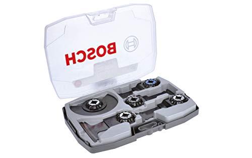 Bosch Professional 5 tlg. Starlock Carbide Tauchsägeblatt/Segmentsägeblatt Set (für Holz und Metall, Best of Cutting, Zubehör Multifunktionswerkzeug)