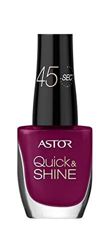 Astor Quick & Shine Nagellack schnelltrocknend und mit Hochglanz-Finish, Farbe 544 Cool Burgundy (rot), 2er Pack (2 x 8 ml)