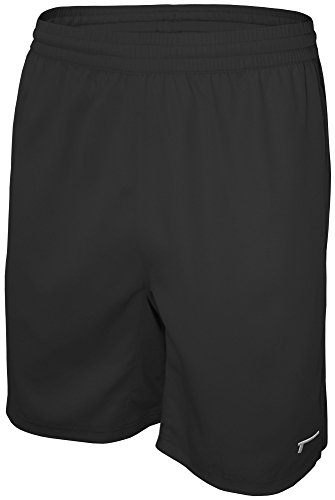 TREN Herren COOL Premium Performance Vent Woven Short Sporthose Fitness Training Schwarz 001 - L