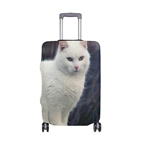 (XL para Equipaje de 29-32 Pulgadas) Gatos Protector de Maleta Blanco Funda de Equipaje antiarañazos para Viaje Equipaje Lavable