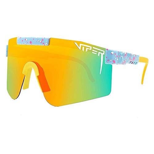 LIUDOU Gafas De Sol, Gafas De Ciclismo Al Aire Libre para Hombres Y Mujeres con Gafas A Prueba De Viento UV400 Lente con Espejo Ciclismo Al Aire Libre Polarizado Sunglasse Running Gafas,C07