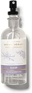 Bath & Body Works Aromatherapy CEDARWOOD VANILLA Pillow and Body Mist, 5.3 fl oz / 156 ml