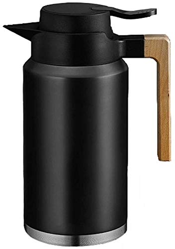 Jarra Térmica cafe Jarra Termo Jarra térmica del revestimiento de acero inoxidable de acero inoxidable de gran capacidad, olla de aislamiento de vacío en el hogar, olla de aislamiento frío, cafetera p