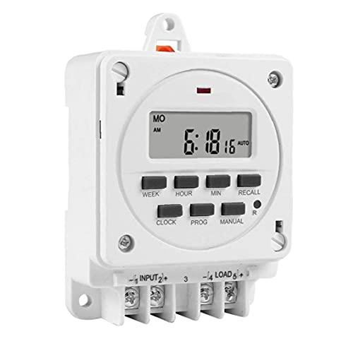 Interruptor de temporizador Interruptor digital Interruptor de tiempo inteligente Interruptor de temporizador semanal Interruptor de temporizador digital Interruptor de temporizador SMART 16A 12V