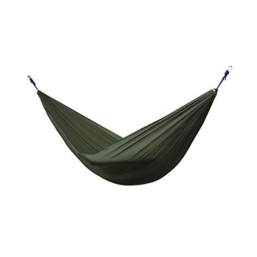 N/F Outdoor Accessories Nylon Double Person Hammock Adult Travel Camping Sleeping Bed (Army Green)