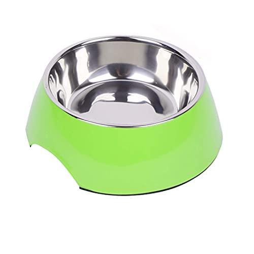 DDOXX Fressnapf, rutschfest | viele Farben & Größen | für kleine & große Hunde | Futter-Napf Katze | Hunde-Napf Hund | Katzen-Napf Edelstahl-Napf | Melamin-Napf | Grün, 700 ml
