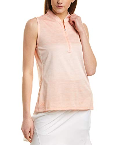 adidas Golf Polo sin Mangas para Mujer, Color Rosa Brillante, XL