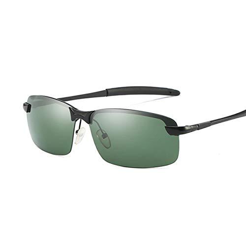 HAOMAO Diseñador de la Marca Gafas de Sol polarizadas de aleación para Hombres Gafas de Espejo Retro Tonos Blackgreen
