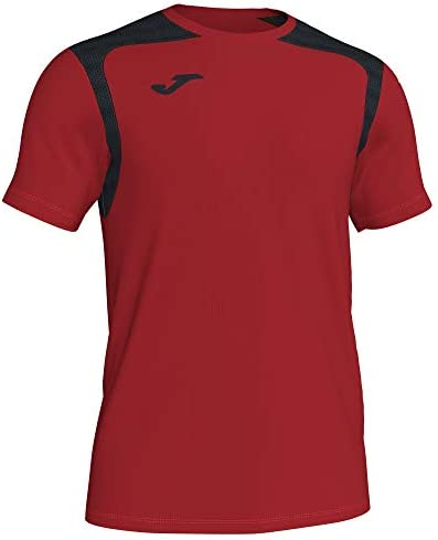 Camiseta Champion V, Color Rojo/Negro
